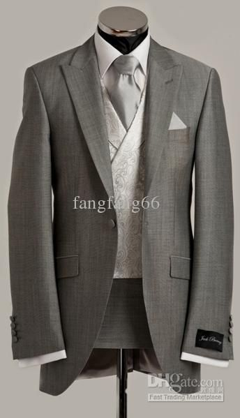 Cheap Mens Wedding Suits Custom Wedding Suits Grey Wedding ...