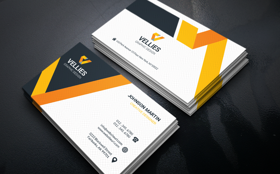 Business Card Template Design Corporate Identity Classy Business Cards Business Card Design Business Card Template Design