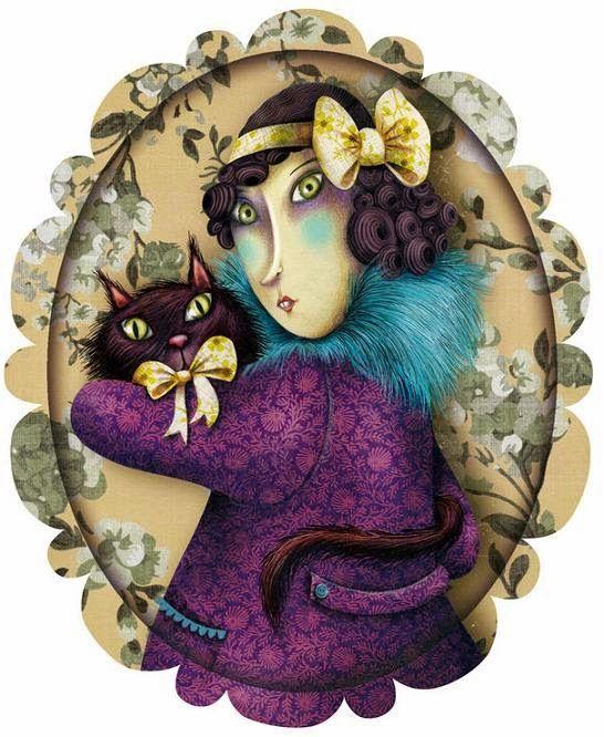 Pinzellades al Món : En femení : Il·lustracions de Gats