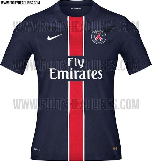 official photos dca7b de41a Paris Saint-Germain 15-16 Kits Leaked - Footy Headlines ...