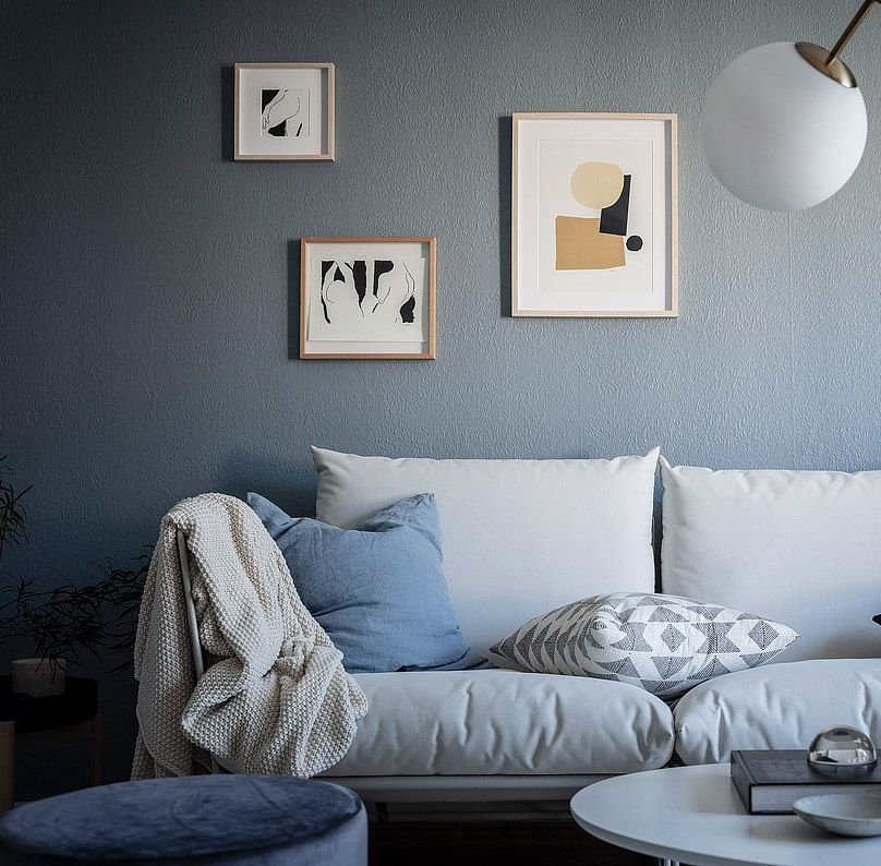 home with petrol blue walls living room blue walls living room rh pinterest com