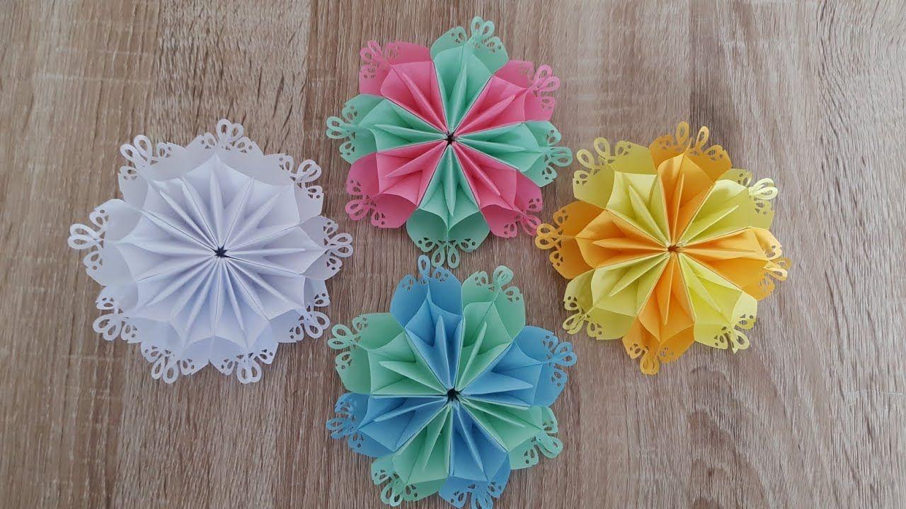 Origami Blume Faltenorigami Flower Origami Papercrafts