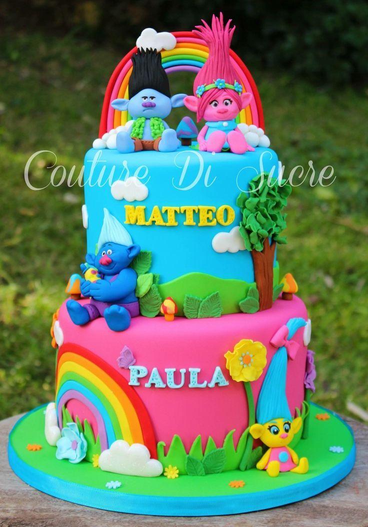 Image result for trolls and moana cake trolls cake