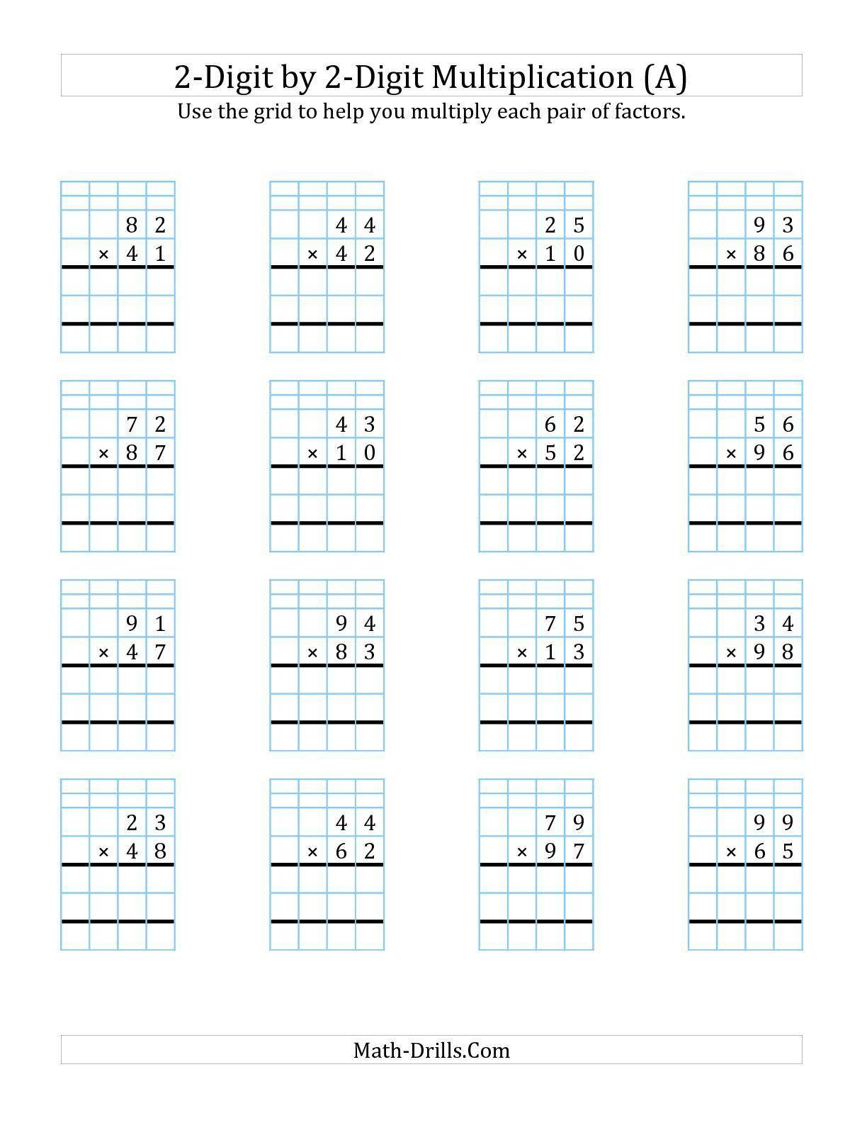 Box Method Multiplication Worksheet Partial Products Worksheets Free Product Multiplication Printable Wo In 2020 Multiplication Worksheets Multiplication Math Drills