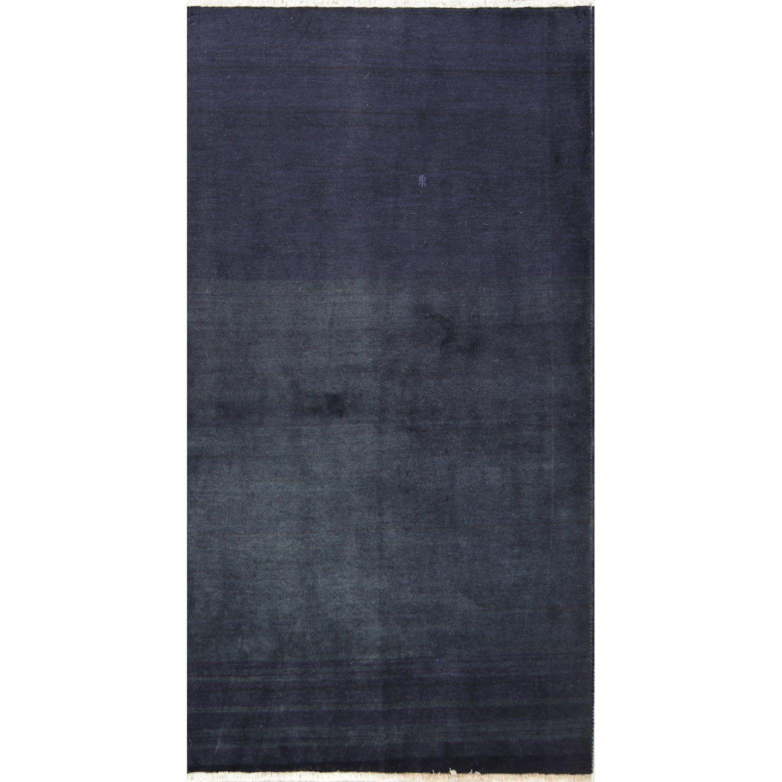 Handmade Wool Solid Modern Gabbeh Zolanvari Shiraz Persian Rug 6 1 X 3 3 Runner Wool Runner Rug Colorful Rugs Dark Gray Area Rug