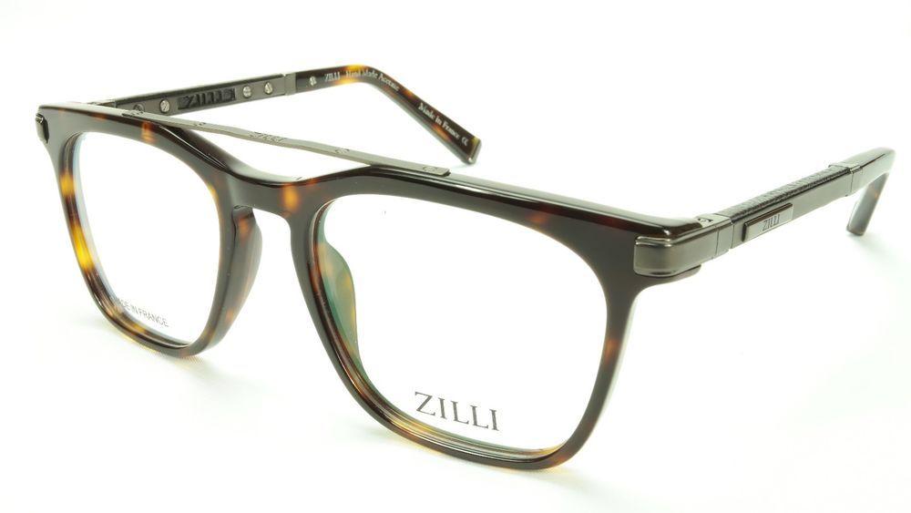86f01b7c2cb ZILLI Eyeglasses Frame Acetate Leather Titanium France Hand Made ZI 60018  C03  ZILLI