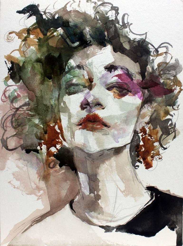 Blue Spring Vol 100 Painting By Ko Byung Jun Saatchi Art Watercolor Art Face Art Watercolor Art Diy