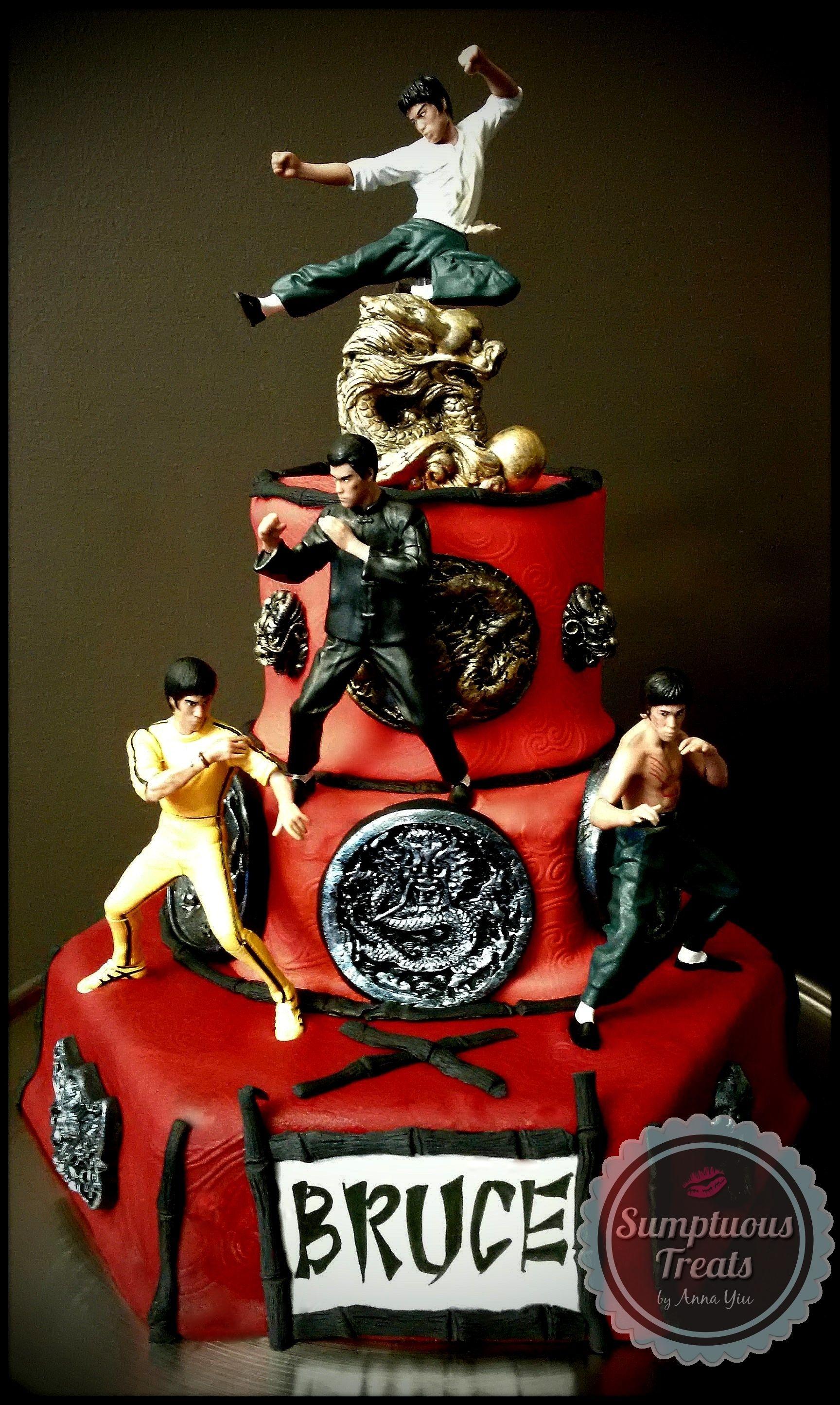 BRUCE LEE Cake CustomMadeToOrder Cakes Desserts Edible Art