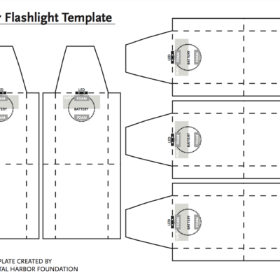 Paper Flashlight Template Dhf Blueprint Templates How To Make Paper Blueprints