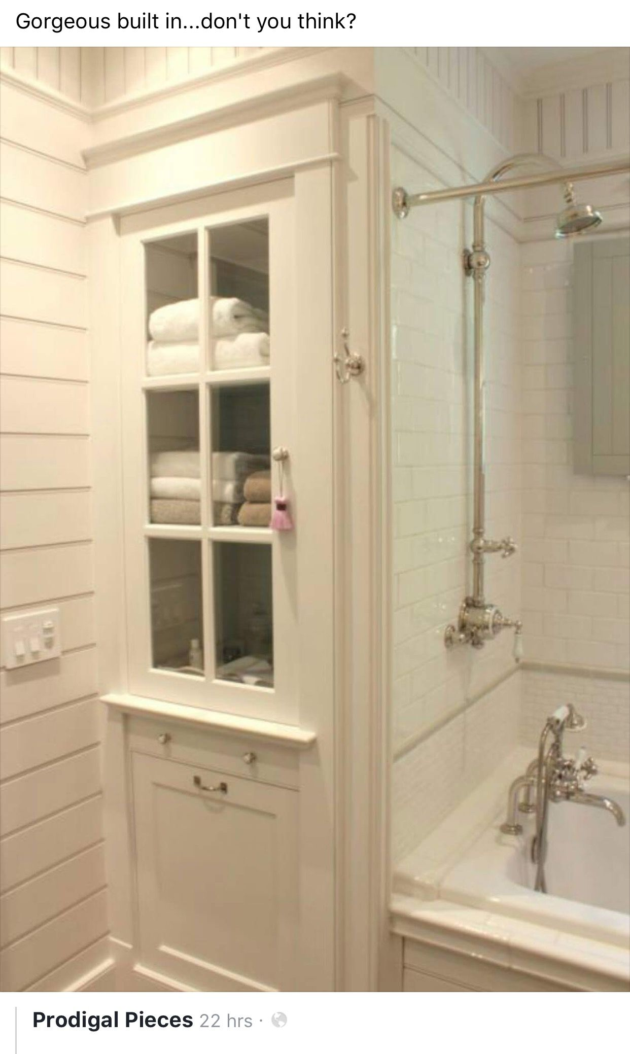 Pin by Ashley Higgins on Home  Bathroom linen cabinet