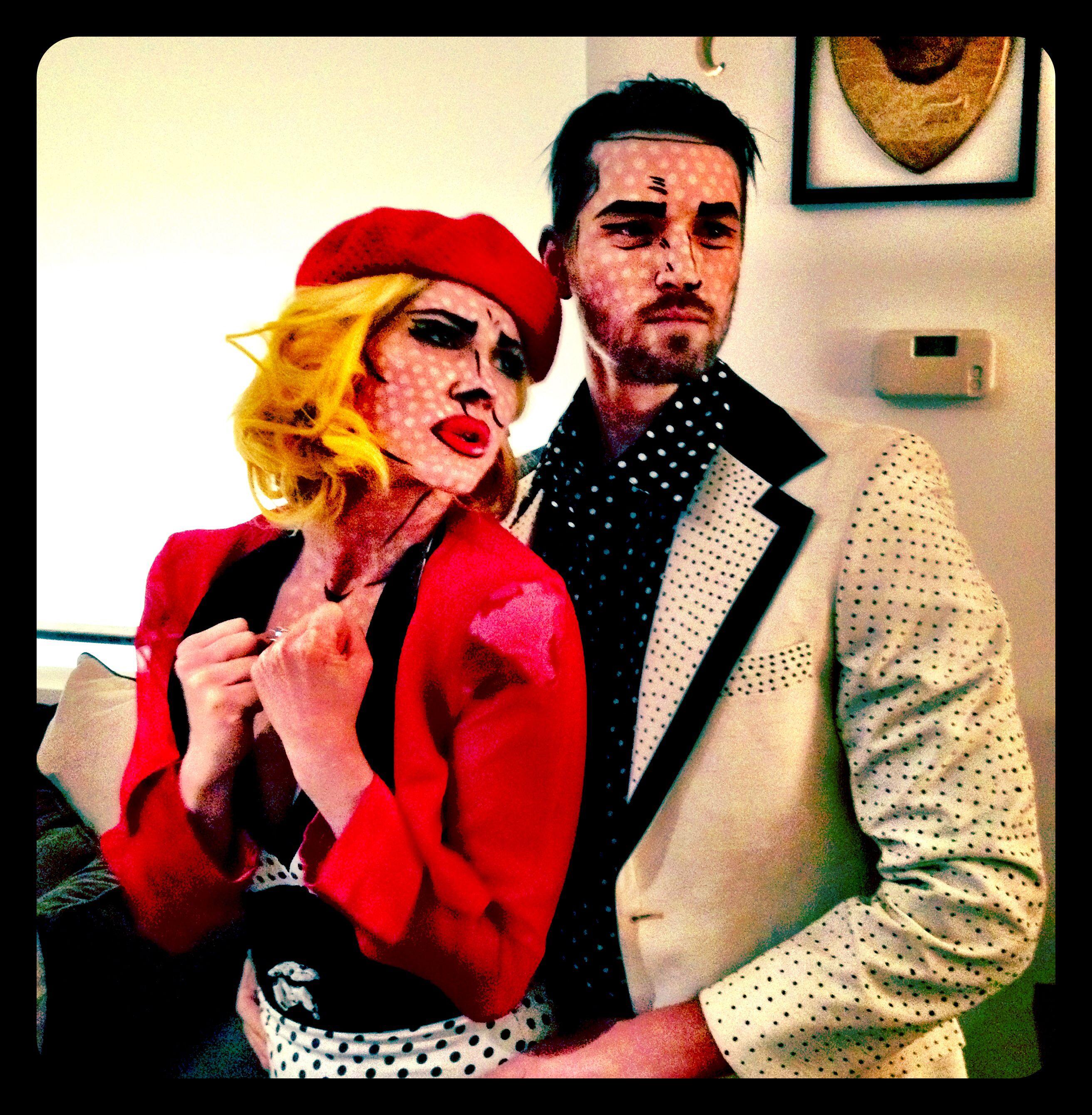 Roy Lichtenstein Halloween Costume.Roy Lichtenstein Couples Costume For Halloween Halloween