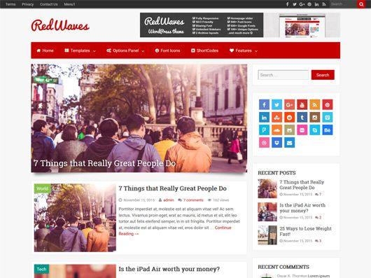 RedWaves: Modern & SEO Friendly WordPress Theme | Our WordPress ...