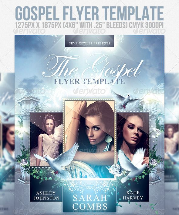 Gospel Flyer Template  Church Flyer Ideas    Flyer