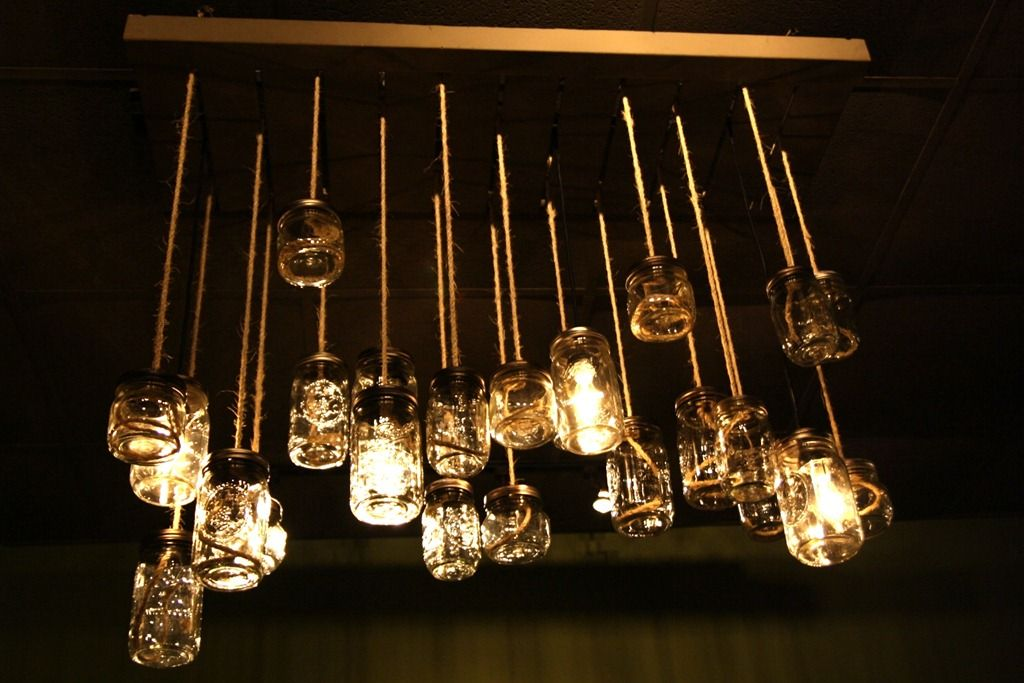 Ball jar chandelier but substitute starbucks frappuccino bottles ball jar chandelier but substitute starbucks frappuccino bottles and you have my plan for an over the bed light aloadofball Image collections