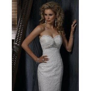 fit and flare strapless gown with sweetheart neckline and