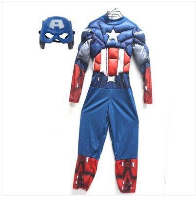 450a28bc8 Capitão américa e os vingadores fantasia para crianças garoto super herói  anime de carnaval fantasia crianças super-herói vestido cosplay presente de  ...