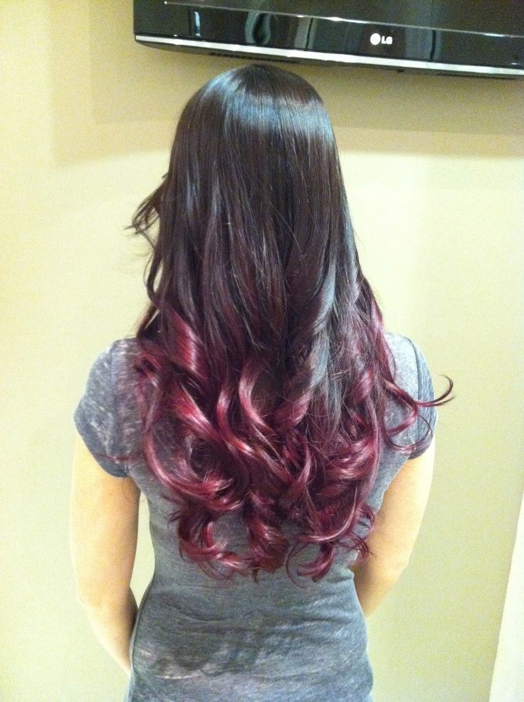 Burgundy Balayage Ombre Google Search Hair Goals Pinterest And