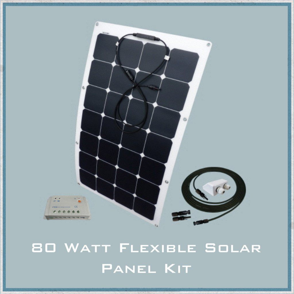 80W Flexible Solar Panel Campervan, Caravan & Motorhome