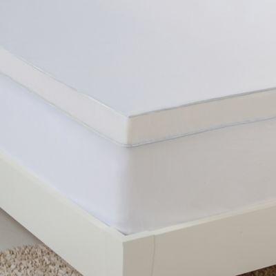 Hydraluxe Gel Memory Foam Queen Mattress Topper In White Memory Foam Mattress Gel Memory Foam Mattress Memory Foam Mattress Topper