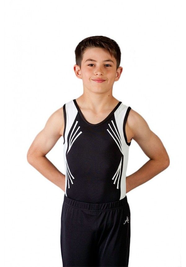 Mens/Boys Black And White Gymnasitcs Leotard | Gymnastics! | Pinterest