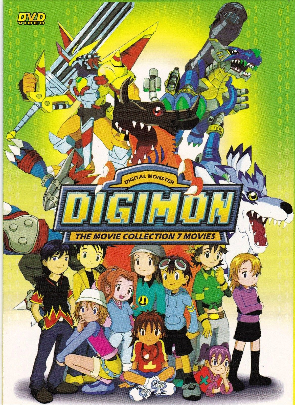 Dvd anime digimon digital monster the movie collection box