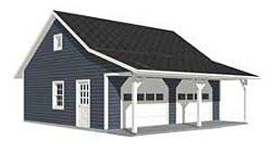 Garage Plans Roomy 2 Car Garage Plan With 6 ft Front P https