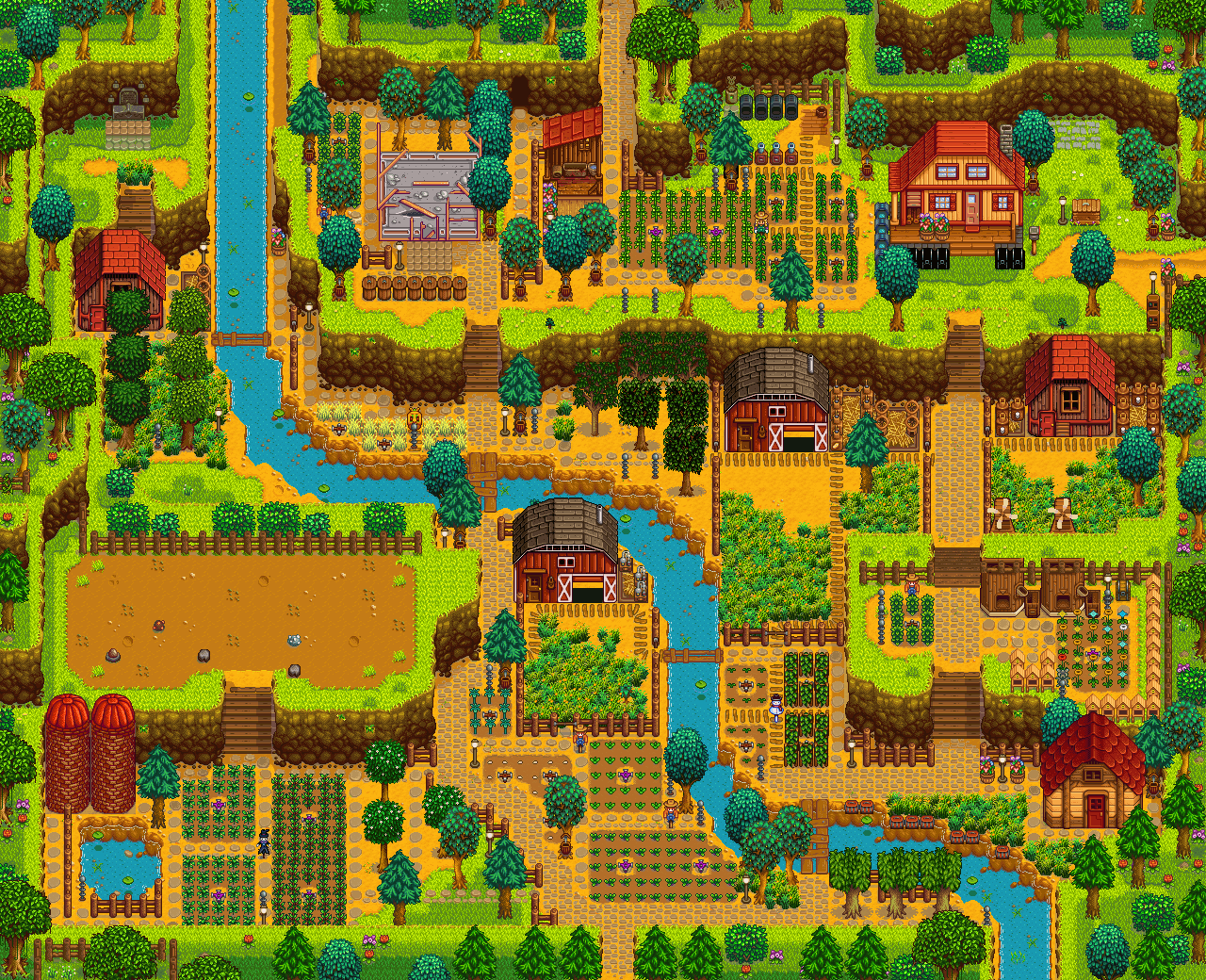 What S Your Preferred Farm I Can T Decide What To Use In New Game Stardewvalley Stardew Valley Stardew Valley Farms Stardew Valley Layout