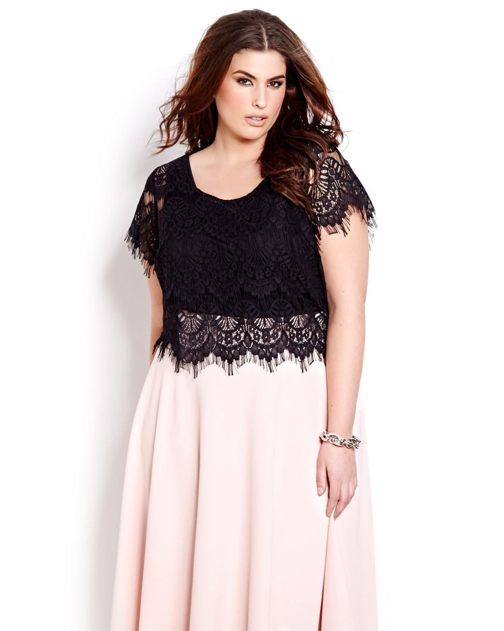 d1748006a93 Lace gets a modern update courtesy of the new cropped silhouette. Plus  size