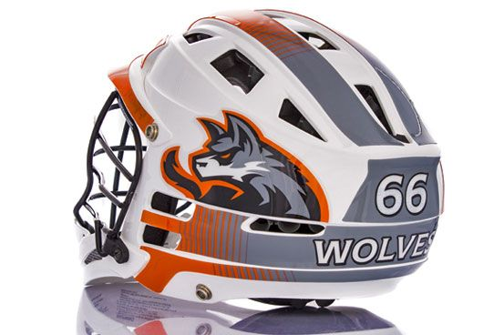 Wolves Lacrosse Helmet Decal Kits Show How You Can Attain Nearly - Motorcycle helmet decals kits