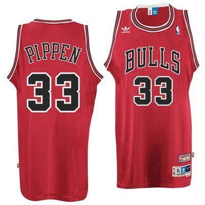 7b7ed667ccaa ... Chicago Bulls Scottie Pippen 33 Hardwood Classics Swingman Jersey (Red)  ...