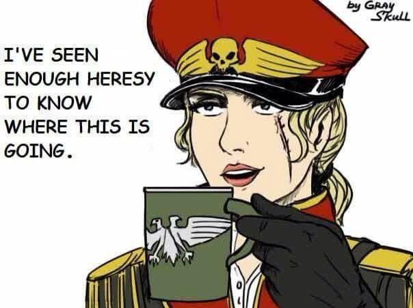 heresy heresy | Warhammer 40k memes, Warhammer, Warhammer 40k