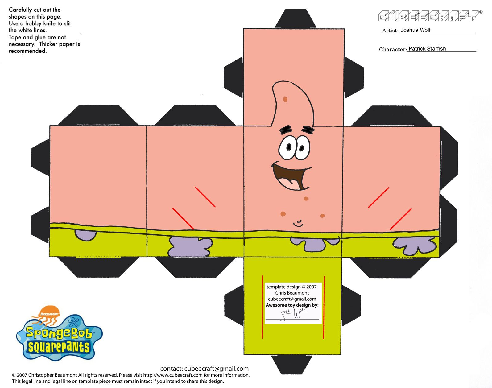 Spongebob 3d cut out printable paper crafts projects to try spongebob 3d cut out printable paper crafts pronofoot35fo Choice Image