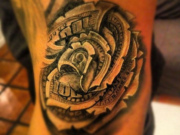Pin by Aunt Suzie on Rose Tattoos | Money rose tattoo ...