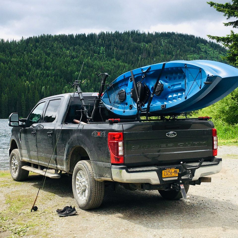 Truck Bed Kayak Bike Carriers In 2020 Truck Bed Camping Trailer Trucks