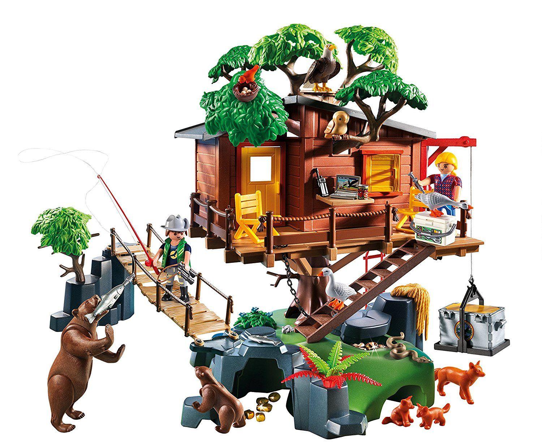 Playmobil - Casa del árbol de aventuras (55570): Amazon.es: Juguetes y juegos