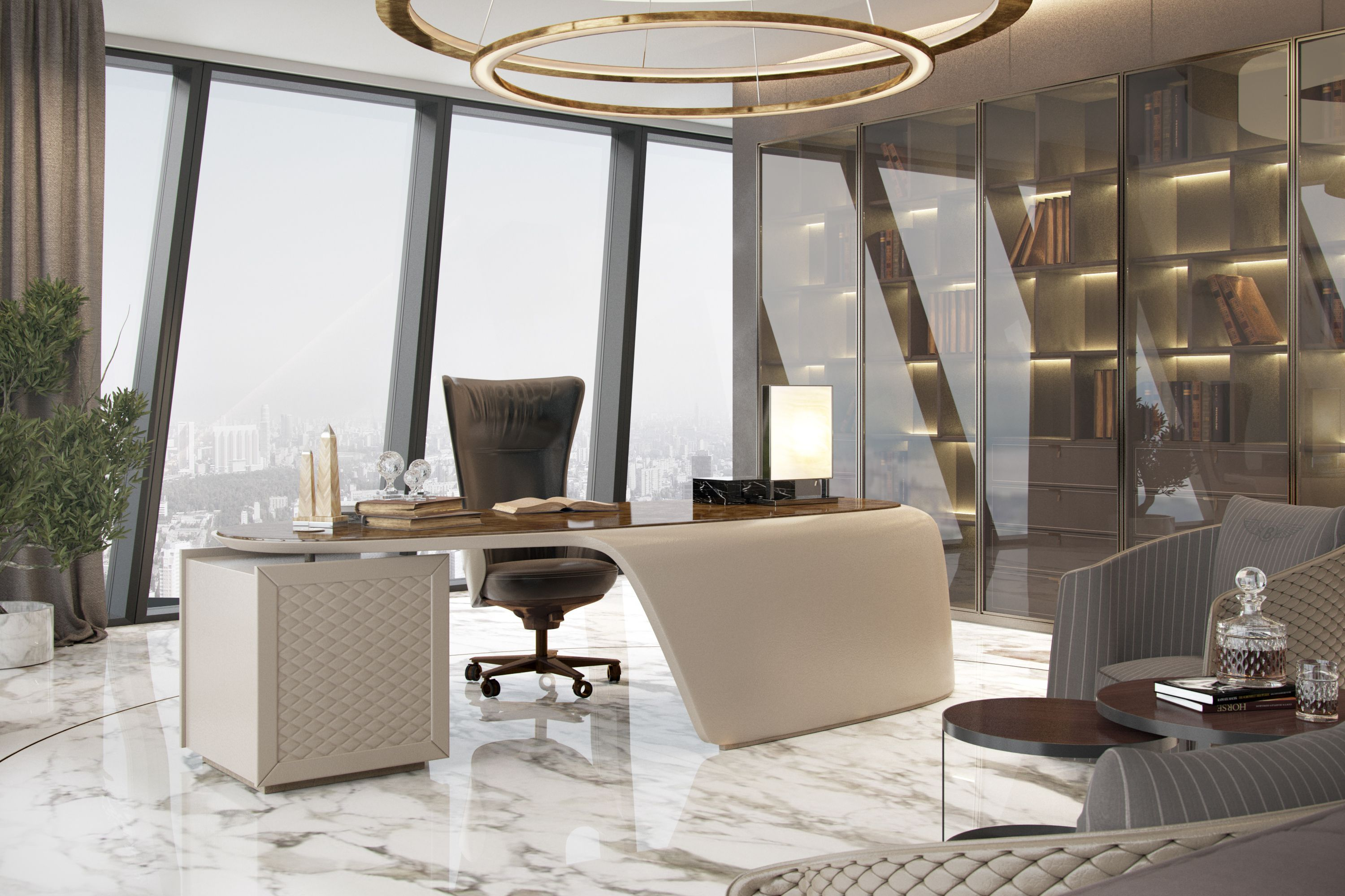 Popatrz na ten projekt w behance luxurious office for Luxury office interior