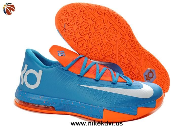 New Nike Zoom KD 6 Blue Orange White Womens 599424 088