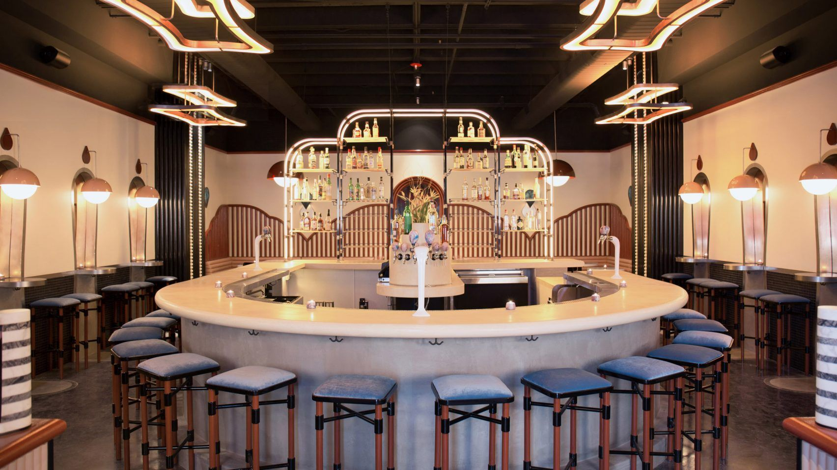 Discover This Startling Cinematic Cocktail Bar In West Hollywood Luxury Furniture Design Luxury Bar Bar Design