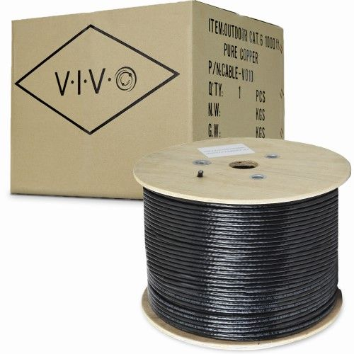 Vivo 1 000ft Cat6 Pure Copper Brown Lan Cable Wire 1000 Ft Waterproof Outdoor Burial Products Cable Wire Pure Copper Power Cable
