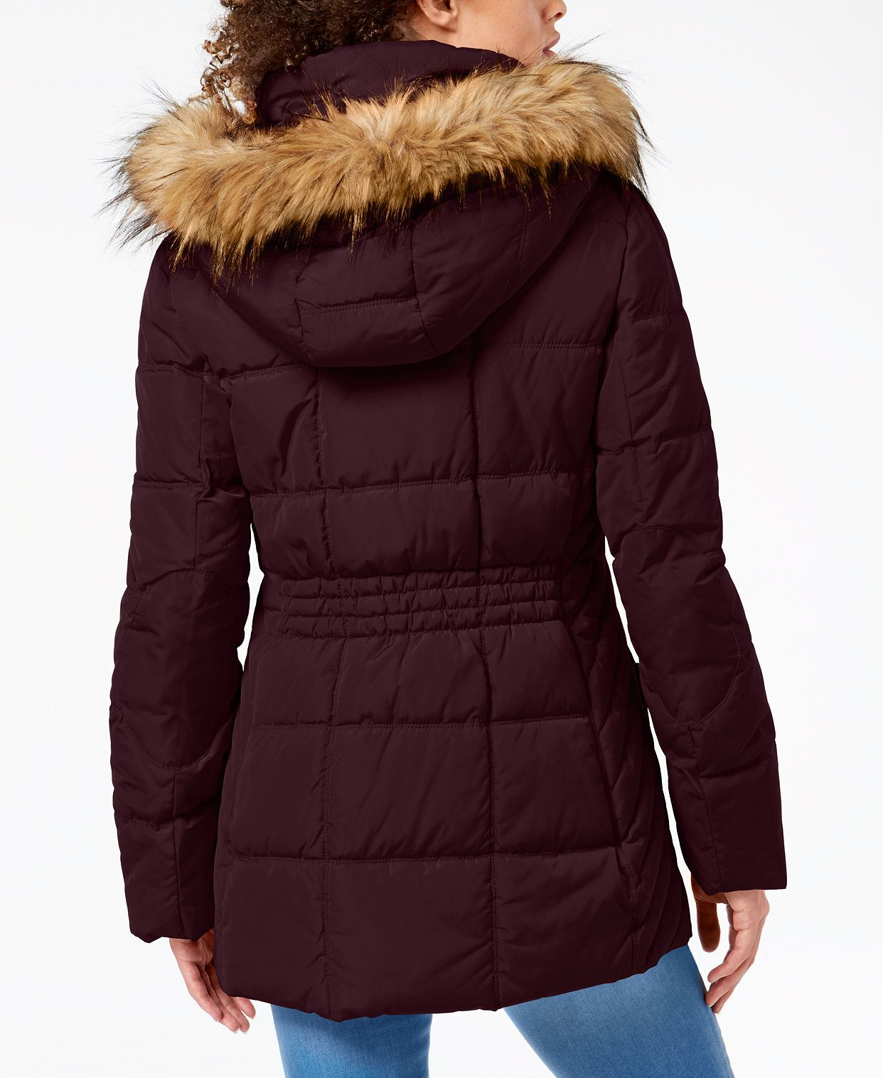 Tommy Hilfiger Faux Fur Trim Hooded Puffer Coat Created For Macy S Reviews Coats Women Macy S Puffer Coat Hooded Faux Coats For Women [ 1517 x 1242 Pixel ]