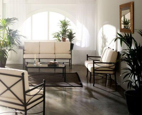 Sofa de forja www.fustaiferro.com #decoracion #interiorismo ...