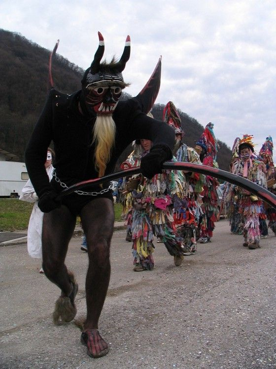 Carnevale - Pust tradizionale a Pulfero (Udine) in Italy