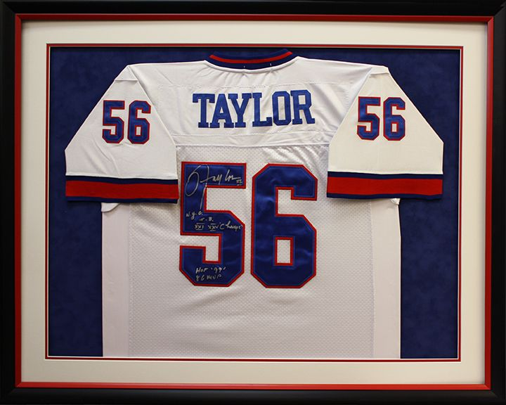 Custom framed NFL Taylor jersey in a shadowbox created at Art and ...