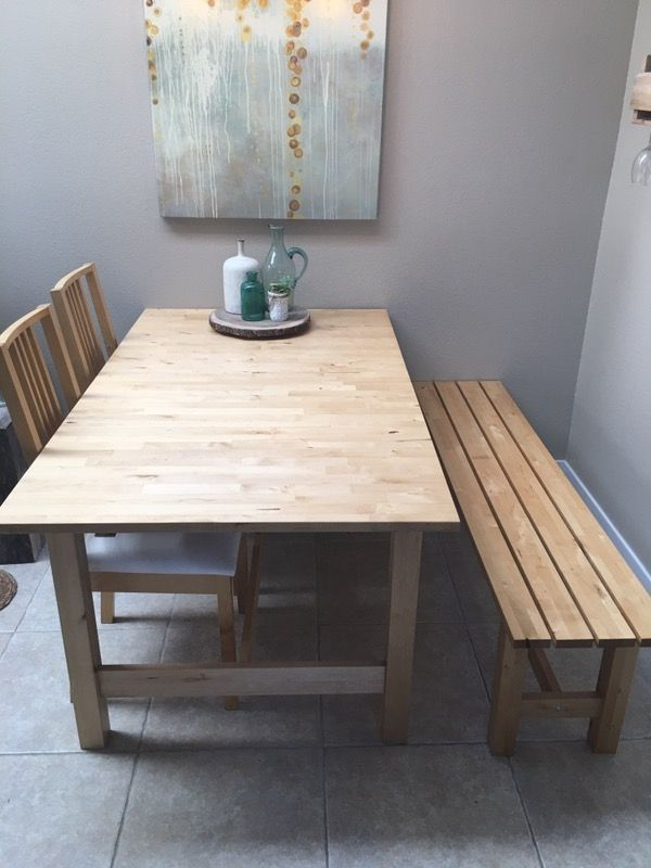Ikea Norden Dining Set W Bench For Sale In Everett Wa Benches