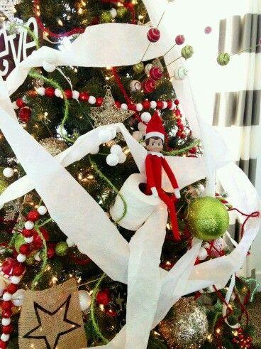 Toilet Paper Tree Elf On The Shelf Naughty Elf Elf On