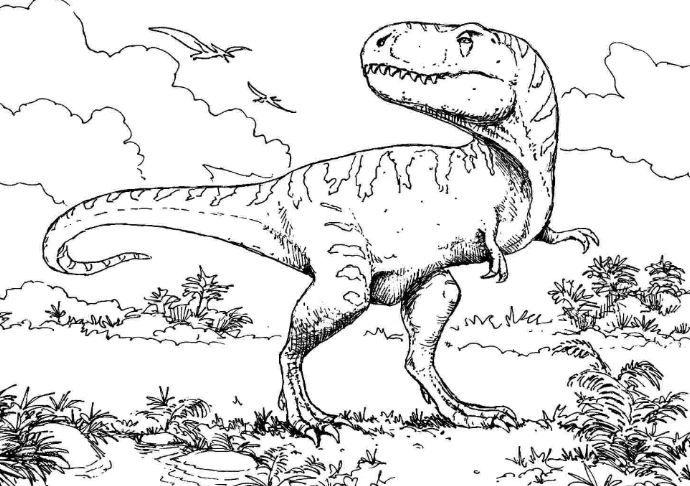 Coloring Page Dinosaur T Rex Coloring Board Pinterest Dinosaur