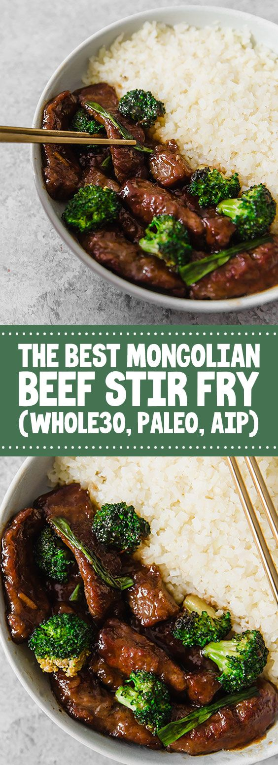 Photo of ★★★★★ 73 reviews: The Best Mongolian Beef Stir Fry (Whole30, Paleo, AI…