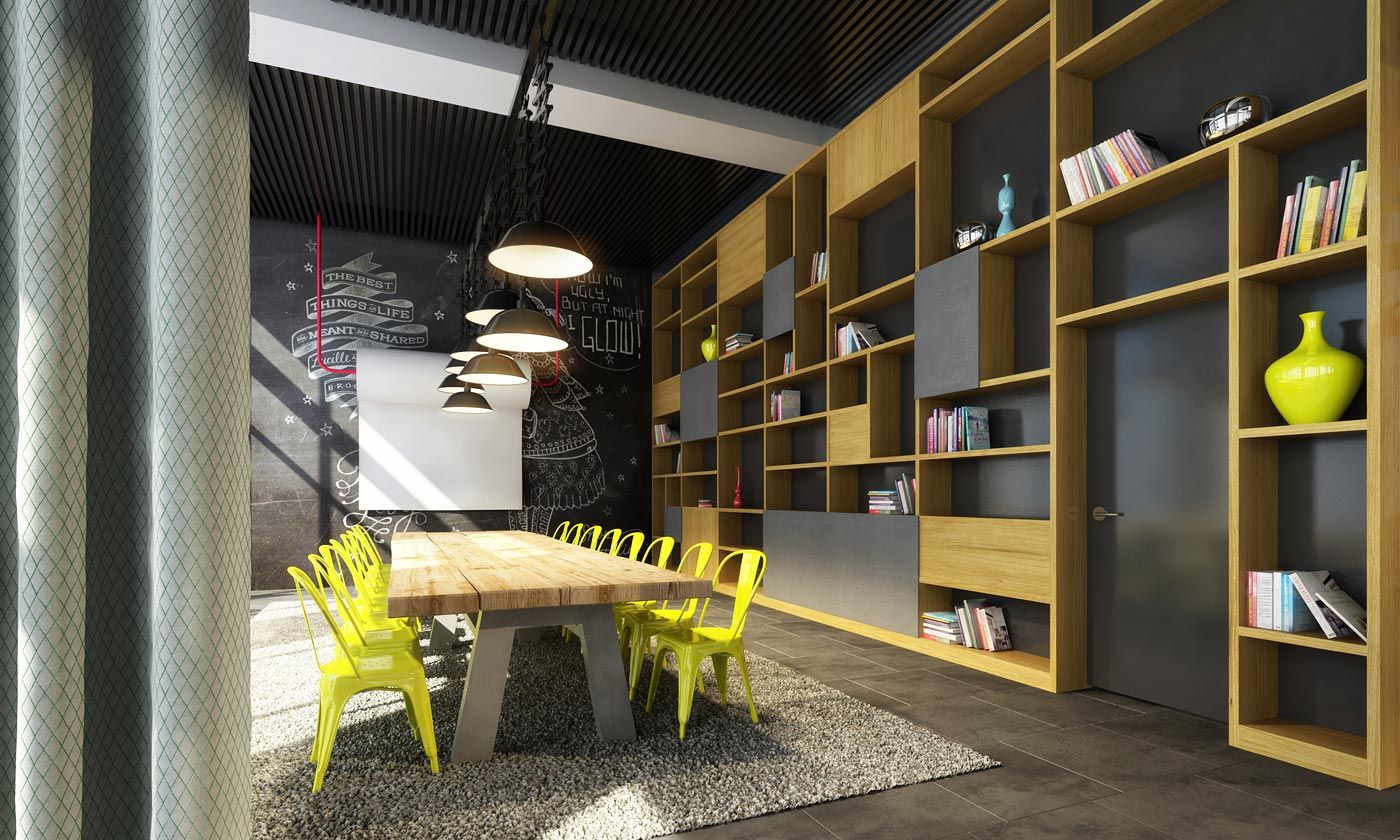 Architectuurproducties bar marie sanoma youth center for Sanoma magazines belgium