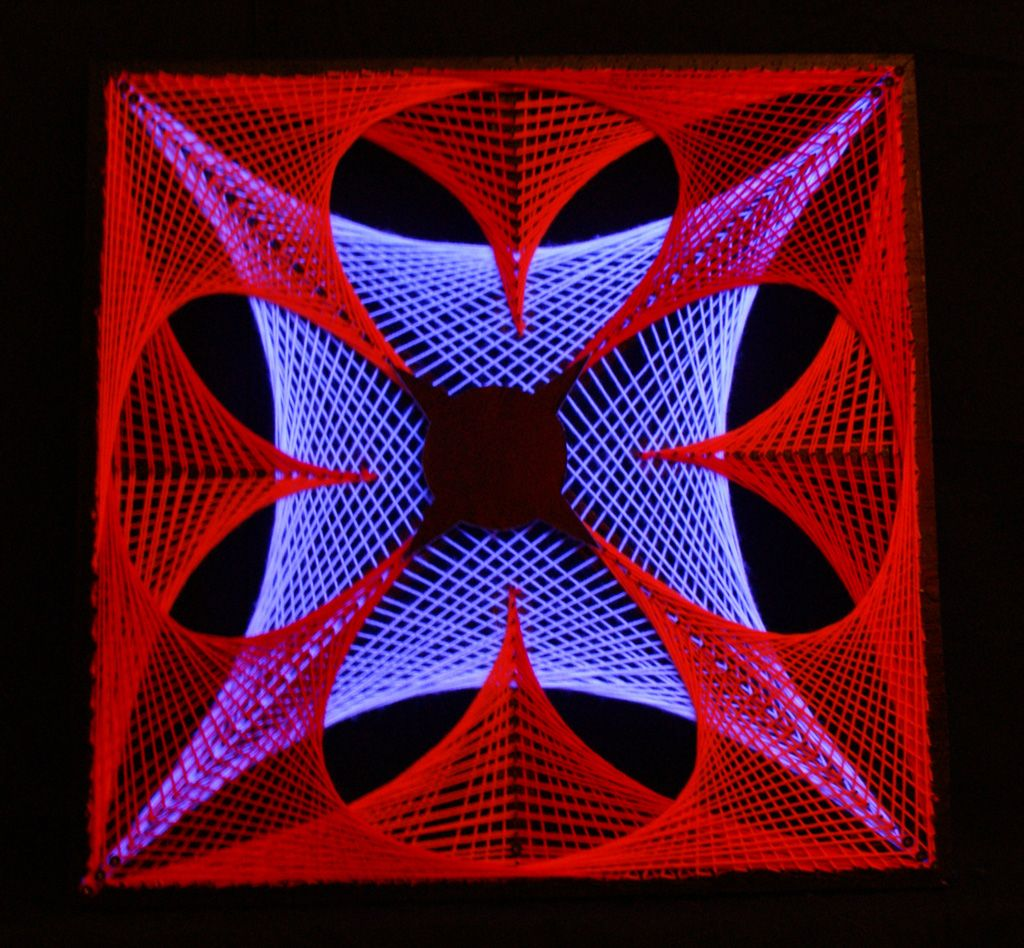 String art fluo