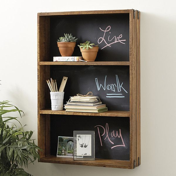 Ballard Designs Oxford Chalkboard Shelf ($159) ❤ Liked On Polyvore  Featuring Home, Home